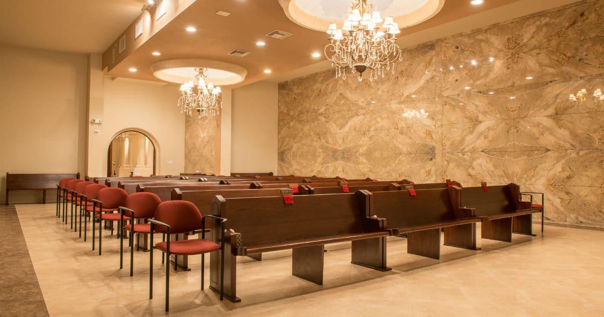 indoor funeral chapel
