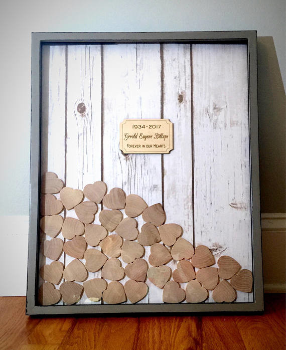 Framed Funeral Guest Book