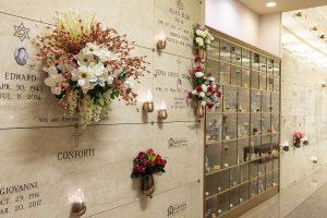 columbarium with flowers