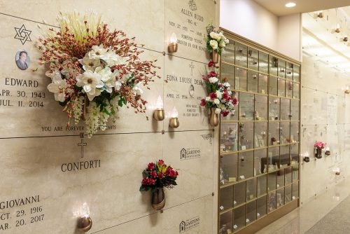 columbarium with flowers